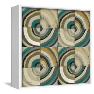 The Center II Abstract Turquoise by Cheryl Warrick