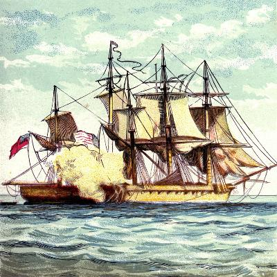 Chesapeake and Shannon, 1812--Giclee Print