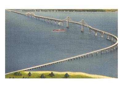 Chesapeake Bay Bridge, Annapolis, Maryland--Art Print