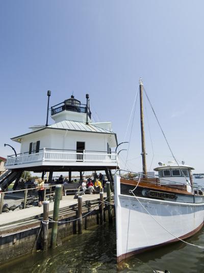 Chesapeake Bay Maritime Museum, Miles River, Chesapeake Bay Area, Maryland, USA-Robert Harding-Photographic Print