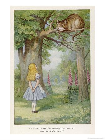 Cheshire Cat-John Tenniel-Premium Giclee Print
