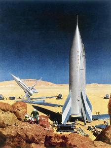 Mars Mission, 1950S by Chesley Bonestell