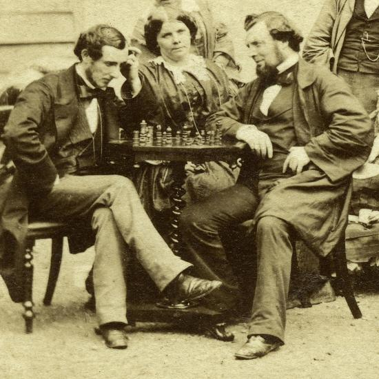 Chess and Cards, C1850s--Giclee Print