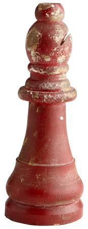 Chess Bishop - Vintage Crimson