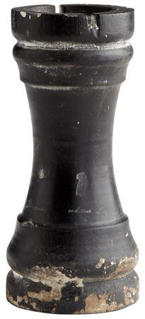 Chess Rook - Rustic Black