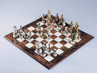 Chessboard with Chess Pieces, Chess, 20th Century--Giclee Print