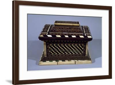 Chest with Carthusian Inlays in Ivory, Bone and Wood, Made in Lombardy, Italy--Framed Giclee Print