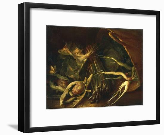 Chest with Roots, Asparagus and Artichokes, Palatine Gallery, Florence-Arnold Houbraken-Framed Giclee Print