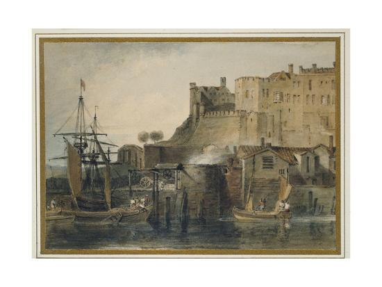 Chester Castle, C  1805 (Watercolour over Graphite, with Pen and Ink and  Scratching Out) Giclee Print by J  M  W  Turner   Art com