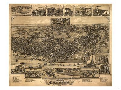 Chester, Pennsylvania - Panoramic Map-Lantern Press-Art Print