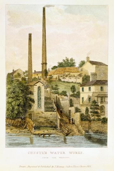 Chester Water Works, from the Fields, 1852-John Romney-Giclee Print