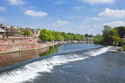 Chester Weir Crossing the River Dee at Chester, Cheshire, England, United Kingdom, Europe-Neale Clark-Photographic Print
