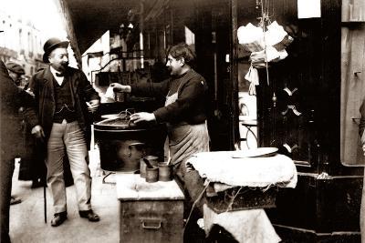 Chestnut Seller, Paris, 1900--Photographic Print