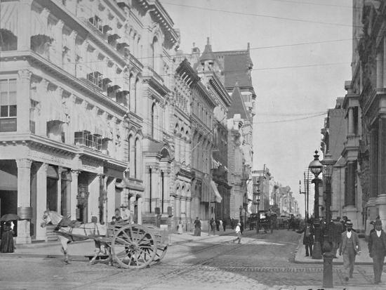 'Chestnut Street, Philadelphia', 19th century-Unknown-Photographic Print