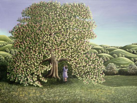 Chestnut Tree and Lovers, 1986-Liz Wright-Giclee Print