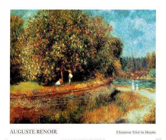 Chestnut Tree in Bloom-Pierre-Auguste Renoir-Art Print