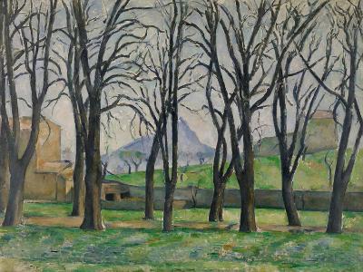 Chestnut Trees at Jas De Bouffan, C.1885-86-Paul Cezanne-Giclee Print