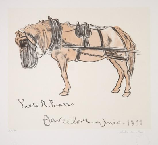 Cheval Attele, 15-B-Pablo Picasso-Premium Edition