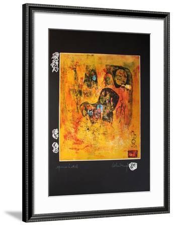 Cheval au Soleil-Lebadang-Framed Premium Edition