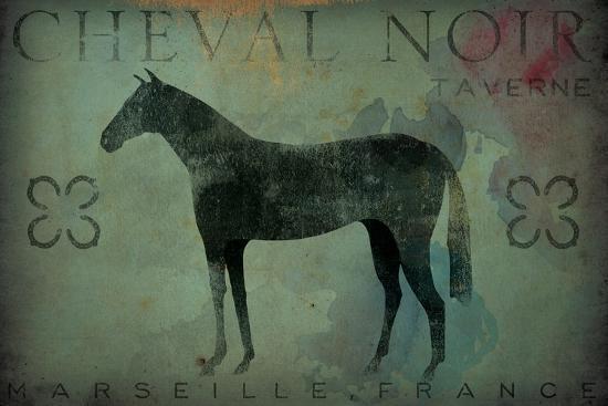 Cheval Noir v1-Ryan Fowler-Art Print