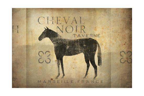 Cheval Noir v4-Ryan Fowler-Art Print