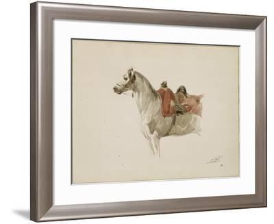 Cheval sellé, tourné vers la gauche-Antoine Alphonse Montfort-Framed Giclee Print