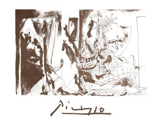 Chevalier en Armure, Page et Femme Nue-Pablo Picasso-Collectable Print