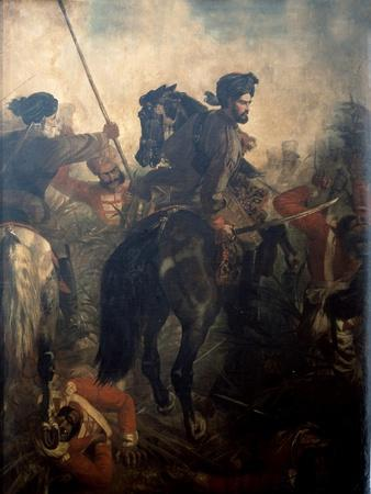 Captain Dighton Macnaghten Probyn (1833-1924) at the Battle of Agra on 10th of October 1857, C.1860
