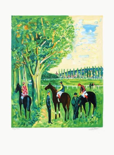 Chevaux a Deauville-Jean-claude Picot-Limited Edition