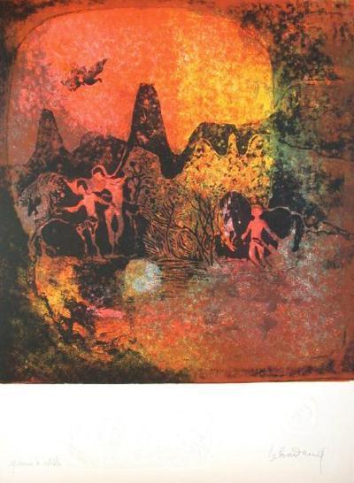 Chevaux au Crepuscule I-Lebadang-Premium Edition