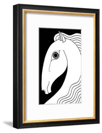 Chevaux d' Femme II-Strammel-Framed Art Print
