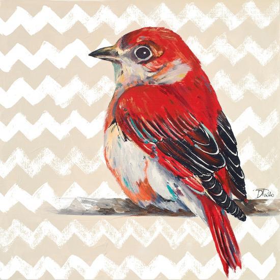 Cheveron Baby Red Bird II-Patricia Pinto-Premium Giclee Print