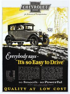 Chevrolet Ad, 1926