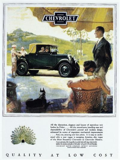 Chevrolet Ad, 1927--Giclee Print