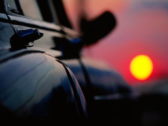 Chevrolet Bel-Air at Sunset, Cienfuegos, Cuba-Christopher P Baker-Photographic Print