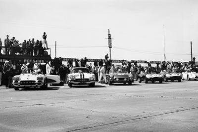 Chevrolet Corvettes at the Sebring 12-Hour Race, Florida, USA, 1958