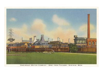 Chevrolet Factory, Foundry, Saginaw, Michigan--Art Print