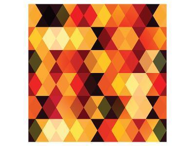 Chevron Diamond Patterns--Art Print