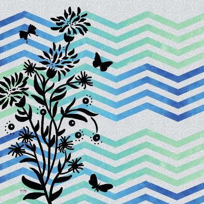 Chevron Floral-Bee Sturgis-Art Print