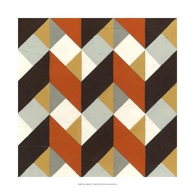 Chevron Illusion IV-Erica J^ Vess-Art Print