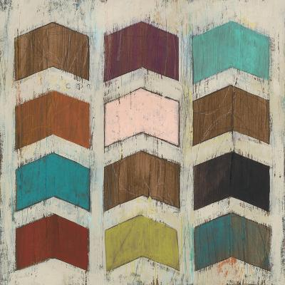 Chevron Matrix II-June Vess-Art Print