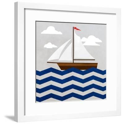 Chevron Sailing II-SD Graphics Studio-Framed Art Print