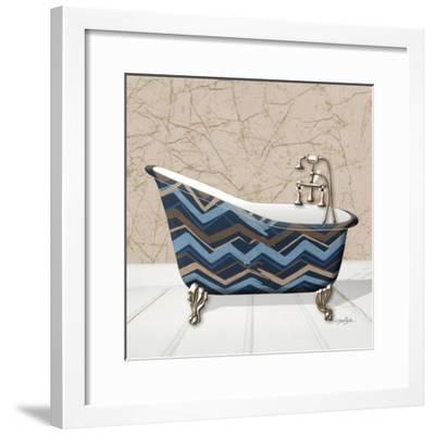 Chevron Tub 1-Diane Stimson-Framed Art Print