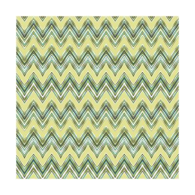 Chevron Waves III-Katia Hoffman-Art Print