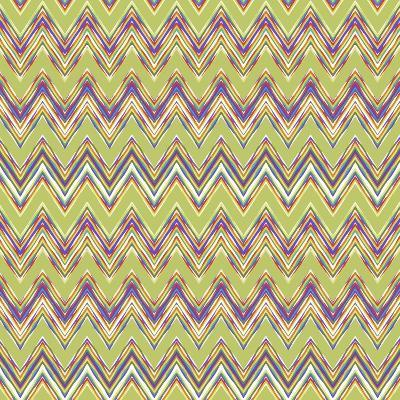 Chevron Waves V-Katia Hoffman-Art Print