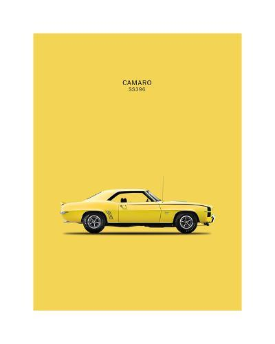 Chevy Camaro SS396 1969-Mark Rogan-Giclee Print