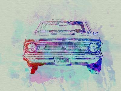 Chevy Camaro Watercolor 2-NaxArt-Art Print