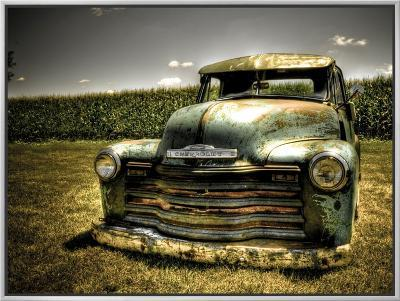 Chevy Truck-Stephen Arens-Framed Canvas Print