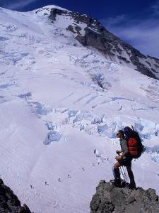 Emmons Glacier on Mt. Rainier, Washington by Cheyenne Rouse
