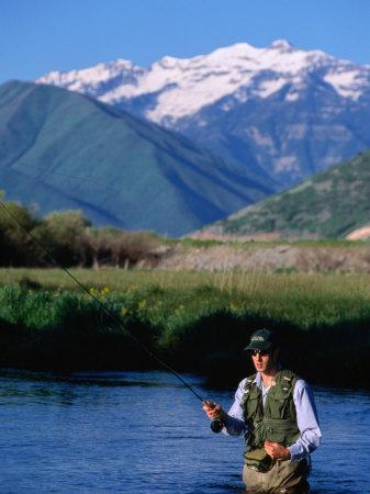 Fly-Fishing in Utah's Provo River, Provo, Utah, USA